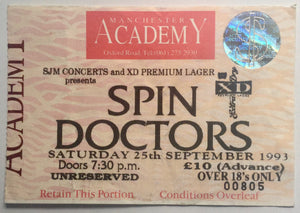 Spin Doctors Original Used Concert Ticket Manchester Academy 25th Sept 1993