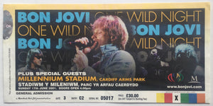 Bon Jovi Original Used Concert Ticket Millennium Stadium Cardiff 17th June 2001