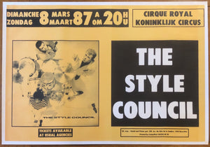 Style Council Original Concert Tour Gig Poster Cirque Royale Brussels 8th Mar 1987
