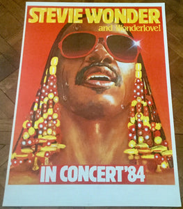 Stevie Wonder Original Concert Tour Gig Poster European Tour 1984
