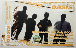 Oasis Original Unused Complete Concert Ticket Rose Bowl Southampton 6th July 2005