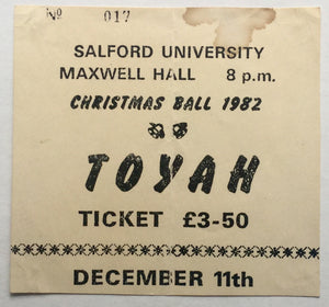 Toyah Original Used Concert Ticket Salford University 11th Dec 1982