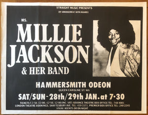 Millie Jackson Original Concert Gig Poster Hammersmith Odeon London 28th & 29th Jan 1978