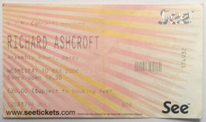 Richard Ashcroft Original Used Concert Ticket Assembly Rooms Derby 10th May 2006