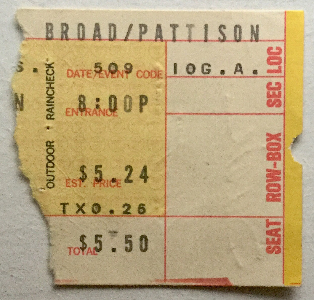Faces Rod Stewart Original Used Concert Ticket Spectrum Philadelphia 9th May 1973