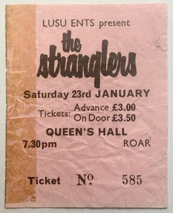 Stranglers Original Used Concert Ticket Leicester University 23rd Jan 1982