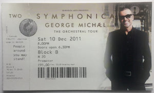 George Michael Original Used Concert Ticket Genting Arena Birmingham 17th Sept 2012