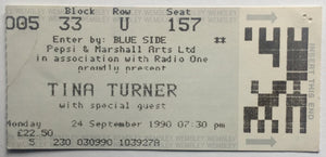 Tina Turner Original Used Concert Ticket Wembley Arena London 24th Sept 1990