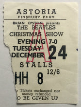 Load image into Gallery viewer, Beatles Original Used Concert Ticket Astoria London 24th Dec 1963