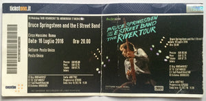 Bruce Springsteen Original Used Concert Ticket Circo Massimo Rome 16th July 2016