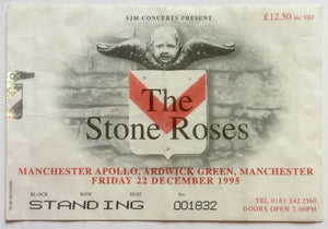 Stone Roses Original Used Concert Ticket Manchester Apollo 22nd Dec 1995