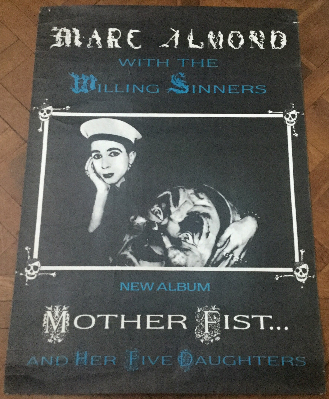 Marc Almond Mother Fist and Her Five Daughters Original Promo Poster Virgin Records 1987