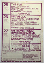 Load image into Gallery viewer, Jam Status Quo Patti Smith Original 18th Reading Festival Handbill Flyer 1978