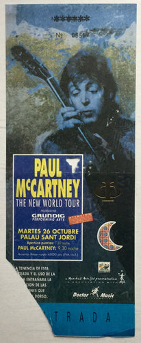 Beatles Paul McCartney Used Concert Ticket Barcelona 26 Oct 1993