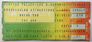 Jam Original Used Concert Ticket Perkins Palace Pasadena 29th May 1982