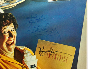 Supertramp Breakfast in America Original Signed Autographed Vinyl Album LP 1979