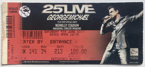 George Michael Original Unused Concert Ticket Wembley Stadium London 9th June 2007