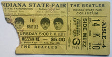 Load image into Gallery viewer, Beatles Original Used Concert Ticket Indiana State Fair Coliseum 3rd Sept 1964
