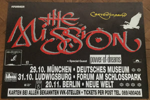 Mission Original Concert Tour Gig Poster German Tour 1990