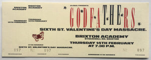 Godfathers Original Unused Concert Ticket Brixton Academy London 14th Feb 1991