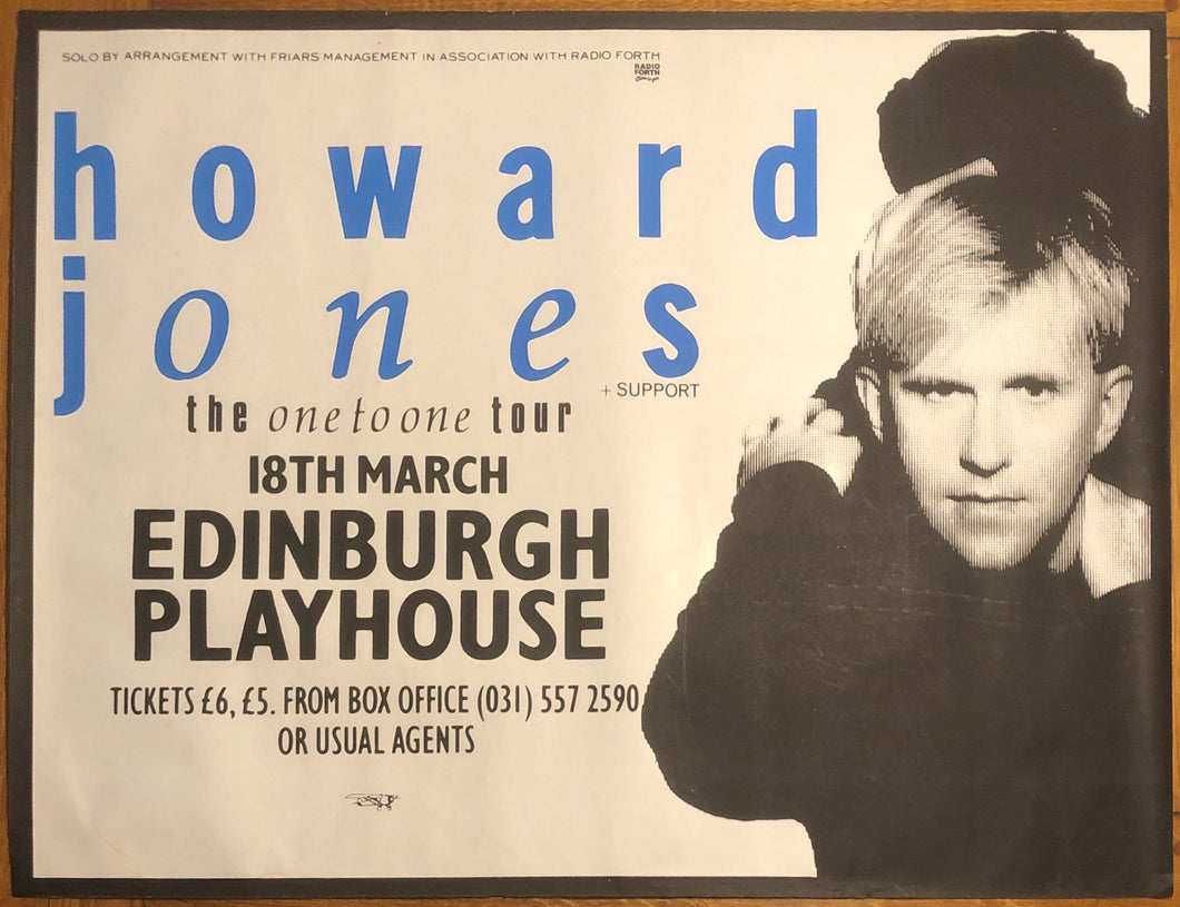 Howard Jones Original Concert Gig Poster Edinburgh Playhouse 18th March 1987