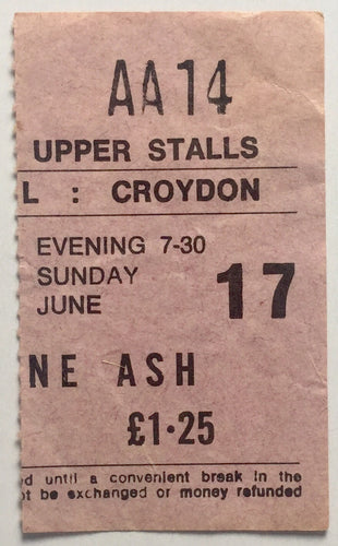 Wishbone Ash Original Used Concert Ticket Fairfield Hall Croydon 17th June 1973
