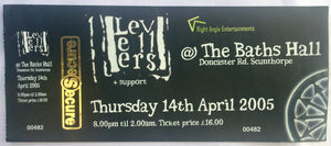Levellers Original Used Concert Ticket The Baths Hall Scunthorpe 14th April 2005