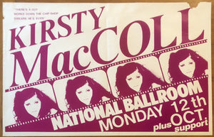 Kirsty MacColl Original Concert Gig Poster National Ballroom Dublin 12th October 1981