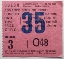 Load image into Gallery viewer, Pat Benatar Original Used Concert Ticket Hammersmith Odeon London 21st Jan 1983