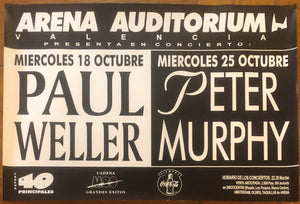 Paul Weller Original Promo Concert Tour Gig Poster Arena Auditorium Valencia 18th Oct 1995