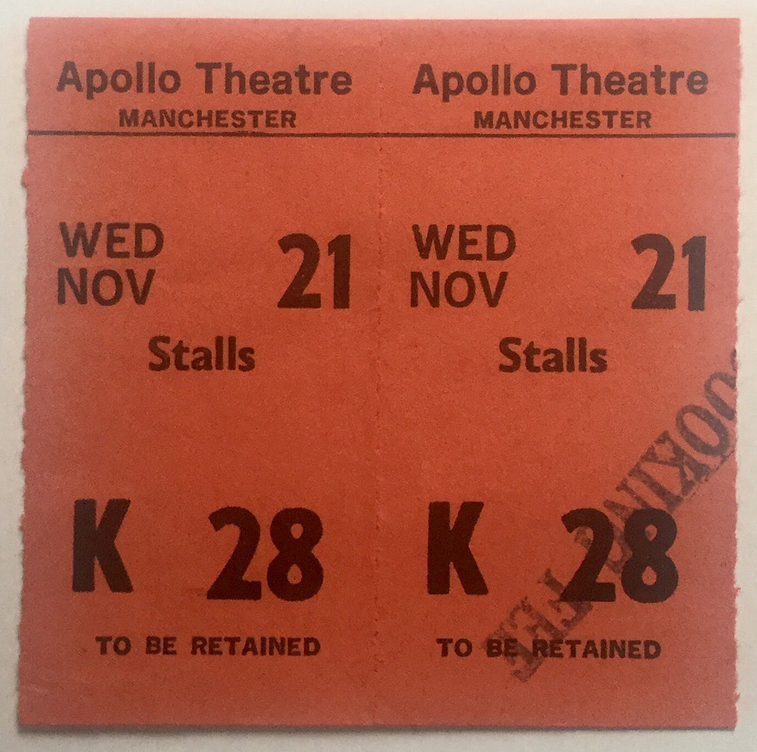 Jam Original Unused Concert Ticket Apollo Theatre Manchester 21st Nov 1979