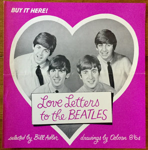 Beatles Love Letters to the Beatles Promo Advertising Poster 1964