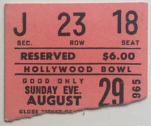 Load image into Gallery viewer, Beatles Original Used Concert Ticket Hollywood Bowl Los Angeles 29th Aug 1965