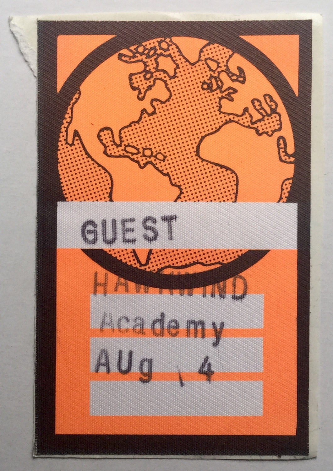 Hawkwind Orange Unused Concert Backstage Pass Ticket Brixton Academy London 14th Aug 1993