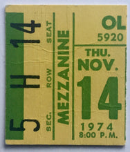 Load image into Gallery viewer, Elton John Original Used Concert Ticket Olympia Stadium Detroit 14th Nov 1974