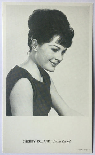 Cherry Roland Original Promo Publicity Card Decca Records 1963