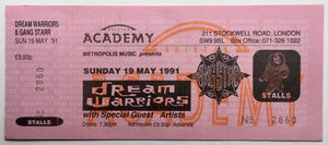 Dream Warriors Original Unused Concert Ticket Brixton Academy London 19th May 1991