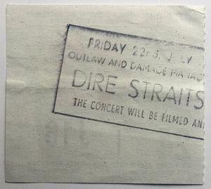 Dire Straits Original Used Concert Ticket Hammersmith Odeon London 22nd July 1983