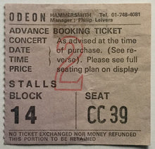 Load image into Gallery viewer, Beatles Paul McCartney Wings Original Concert Ticket Hammersmith Odeon London 18th Sept 1975