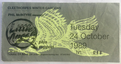 Little Angels Original Used Concert Ticket Cleethorpes Winter Gardens 24th Oct 1989
