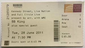 B.B. King Original Used Concert Ticket Royal Albert Hall London 28th June 2011