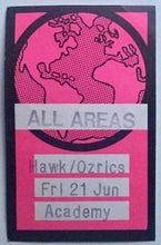 Load image into Gallery viewer, Hawkwind Pink Unused Concert Backstage Pass Ticket Brixton Academy London 21st Jun 1996