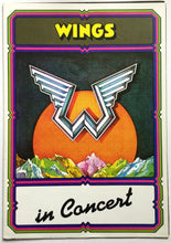 Load image into Gallery viewer, Beatles Paul McCartney Wings Original Concert Programme UK Tour 1975