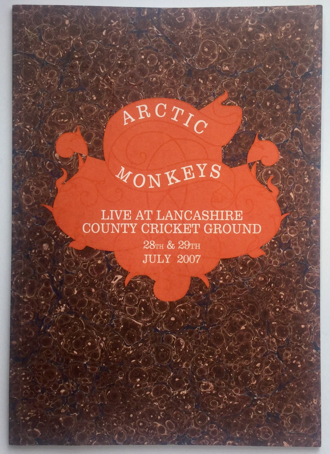 Arctic Monkeys Amy Winehouse Original Concert Programme Lancashire Cricket Ground Manchester 2007