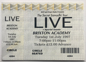 Live Original Unused Concert Ticket Brixton Academy London 1st July 1997