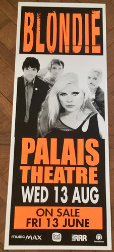 Blondie Original Concert Tour Poster Palais Theatre Melbourne 13th Aug 2003