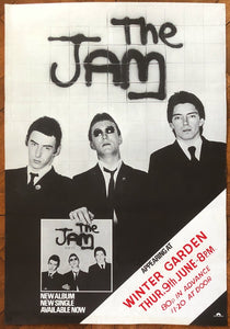 Jam Original Concert & Album Promo Poster Winter Garden Eastbourne 9th June 1977
