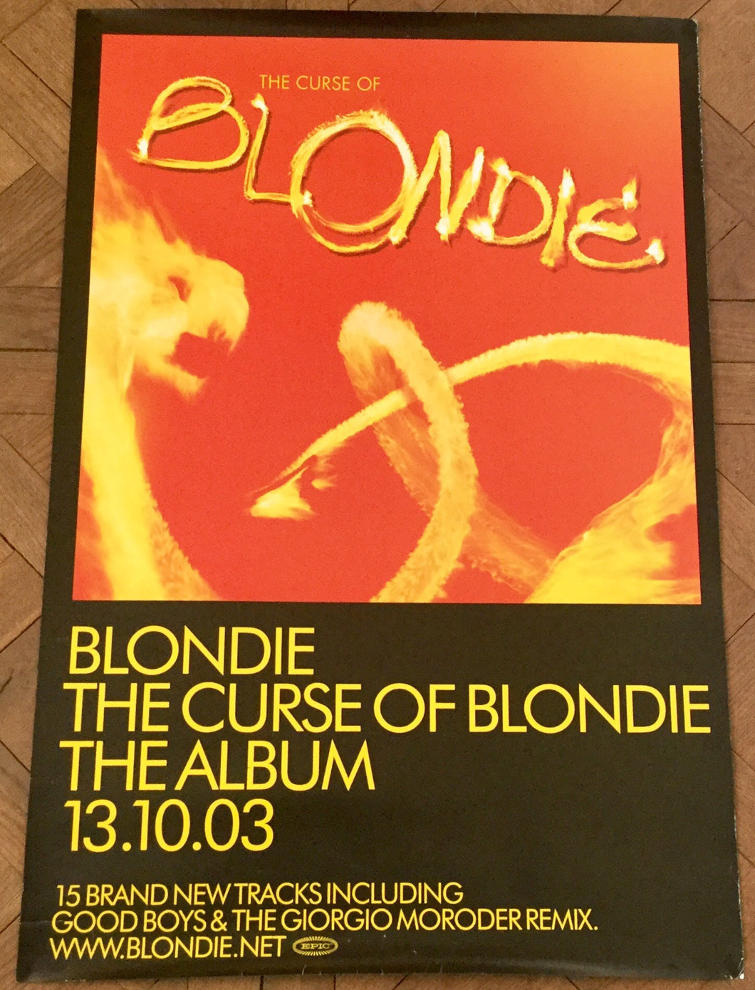 Blondie The Curse of Blondie Album Original Promo Poster Epic Records 2003