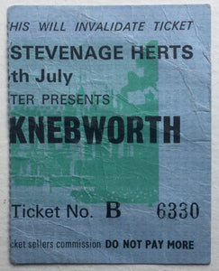 Pink Floyd Original Used Concert Ticket Knebworth Park 5th July 1975