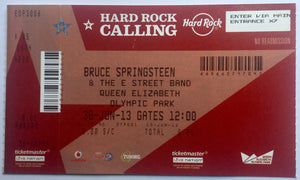 Bruce Springsteen & The E Street Band Original Unused Concert Ticket Olympic Park London 30th Jun 2013